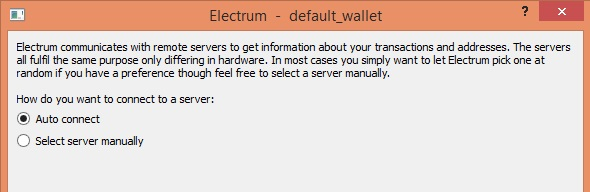 How to set up Electrum step 4